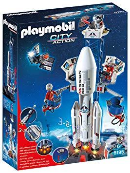 playmobil base de lancement avec fusée 6195