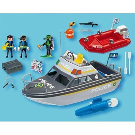 playmobil bateau de police