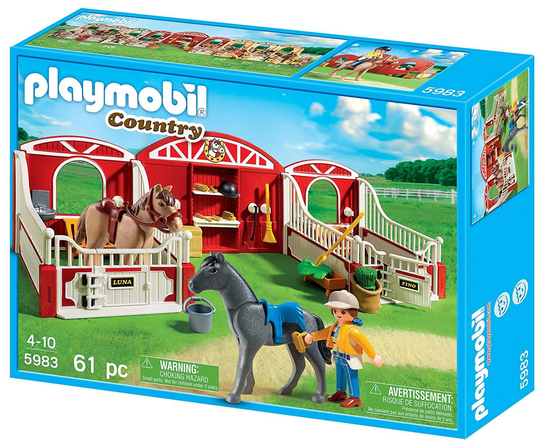 playmobil box cheval