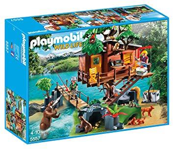playmobil cabane des aventuriers dans les arbres