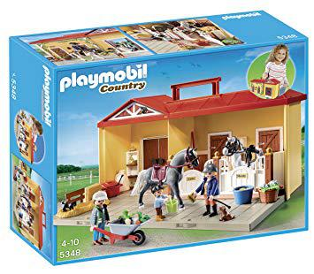 playmobil ecurie transportable