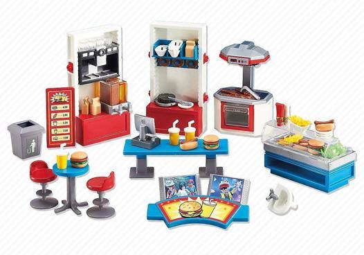 playmobil fast food