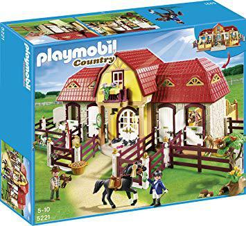 playmobil haras avec chevaux et enclos
