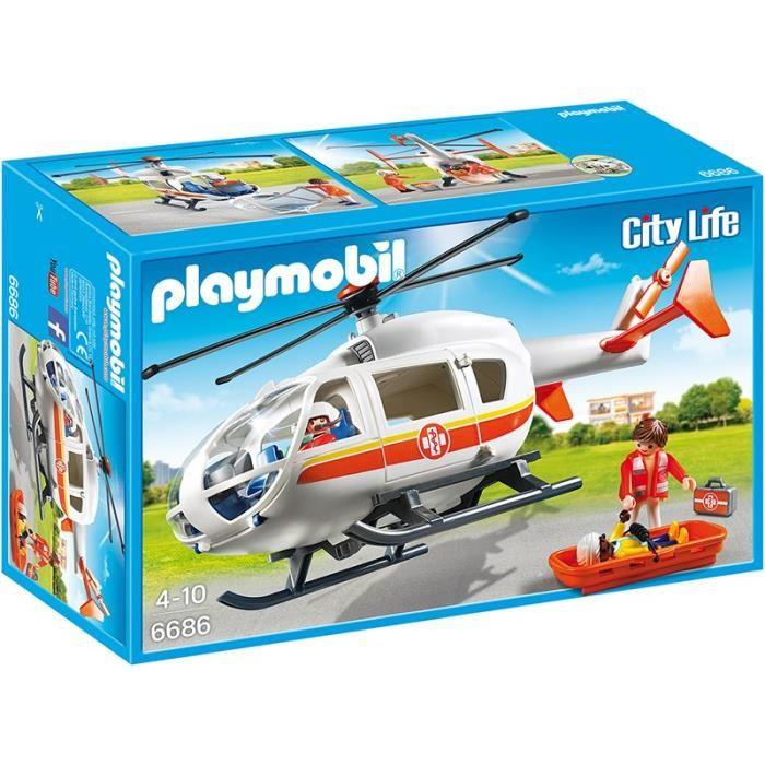 playmobil hélicoptère