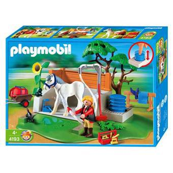 playmobil lavage chevaux