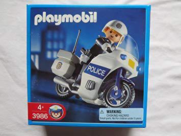 playmobil motard police