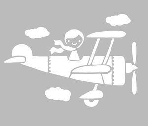 pochoir avion