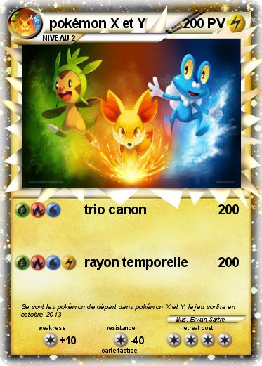 pokemon x et y carte