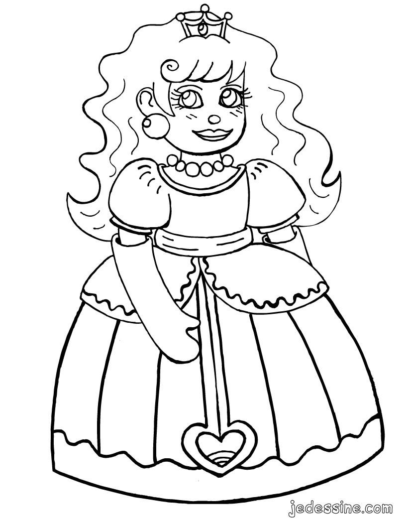 poupée à colorier
