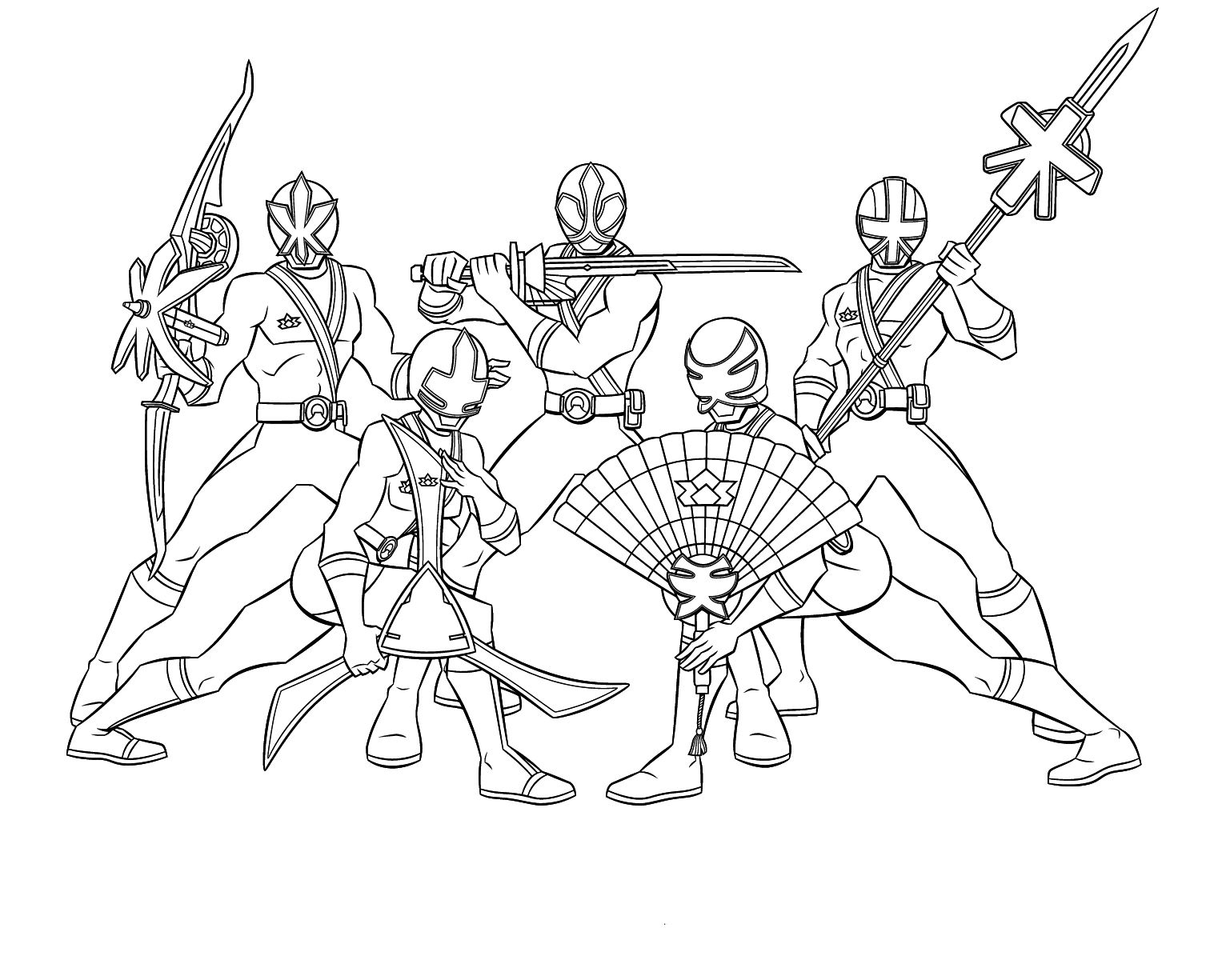 power ranger samurai dessin