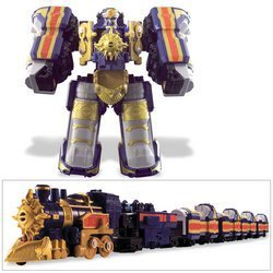 power rangers train megazord