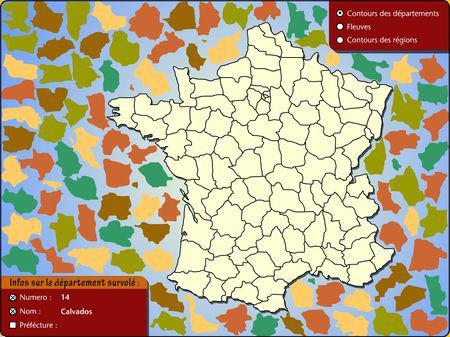 puzzle départements français