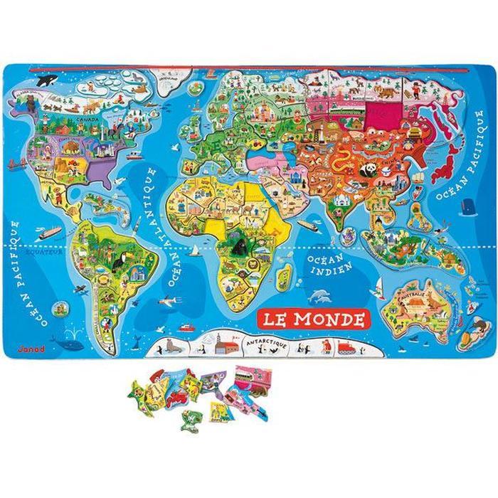 puzzle magnetique monde