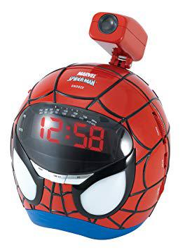 radio reveil spiderman projecteur