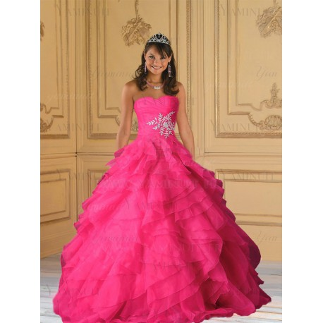 robe princesse rose