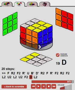 solution rubik's cube 3x3