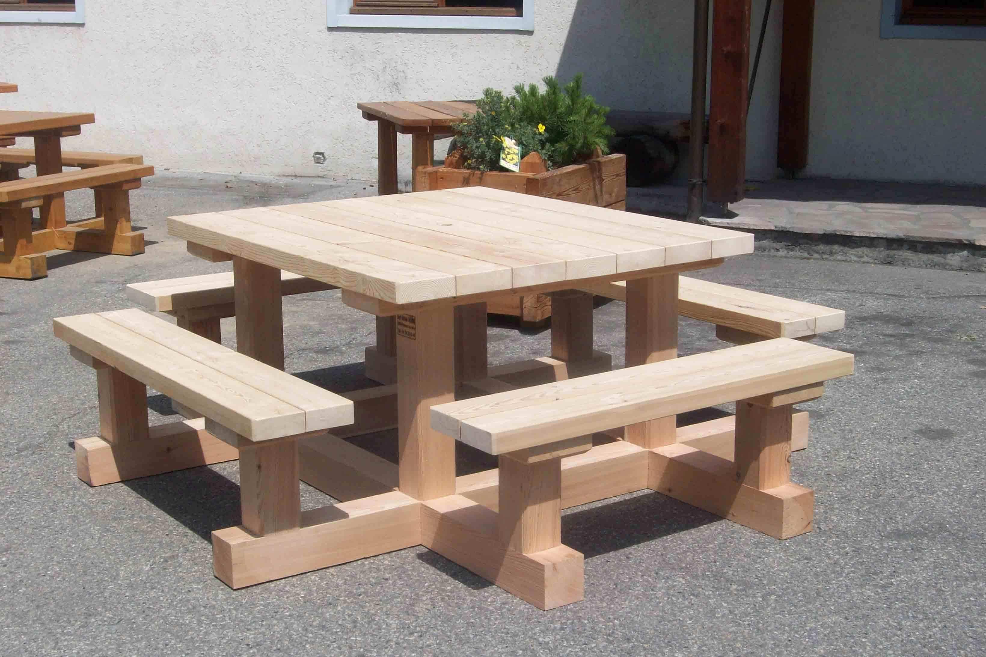 table bois banc
