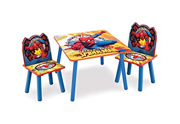table et chaise spiderman