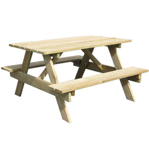 table pic nique bois