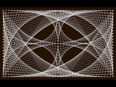 tableau avec des clous et du fil
