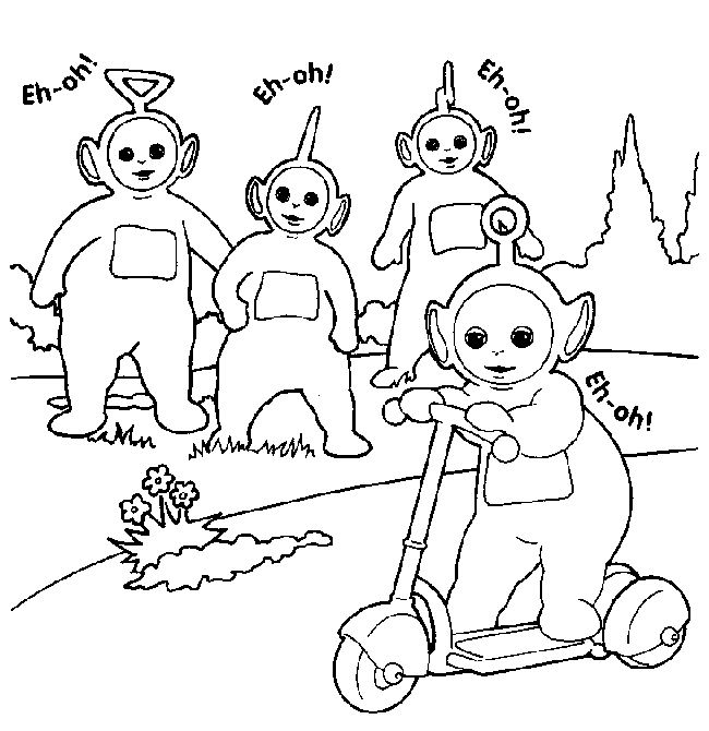 teletubbies coloriage
