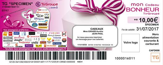 ticket sodexo tir groupé