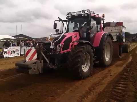 tracteur rose