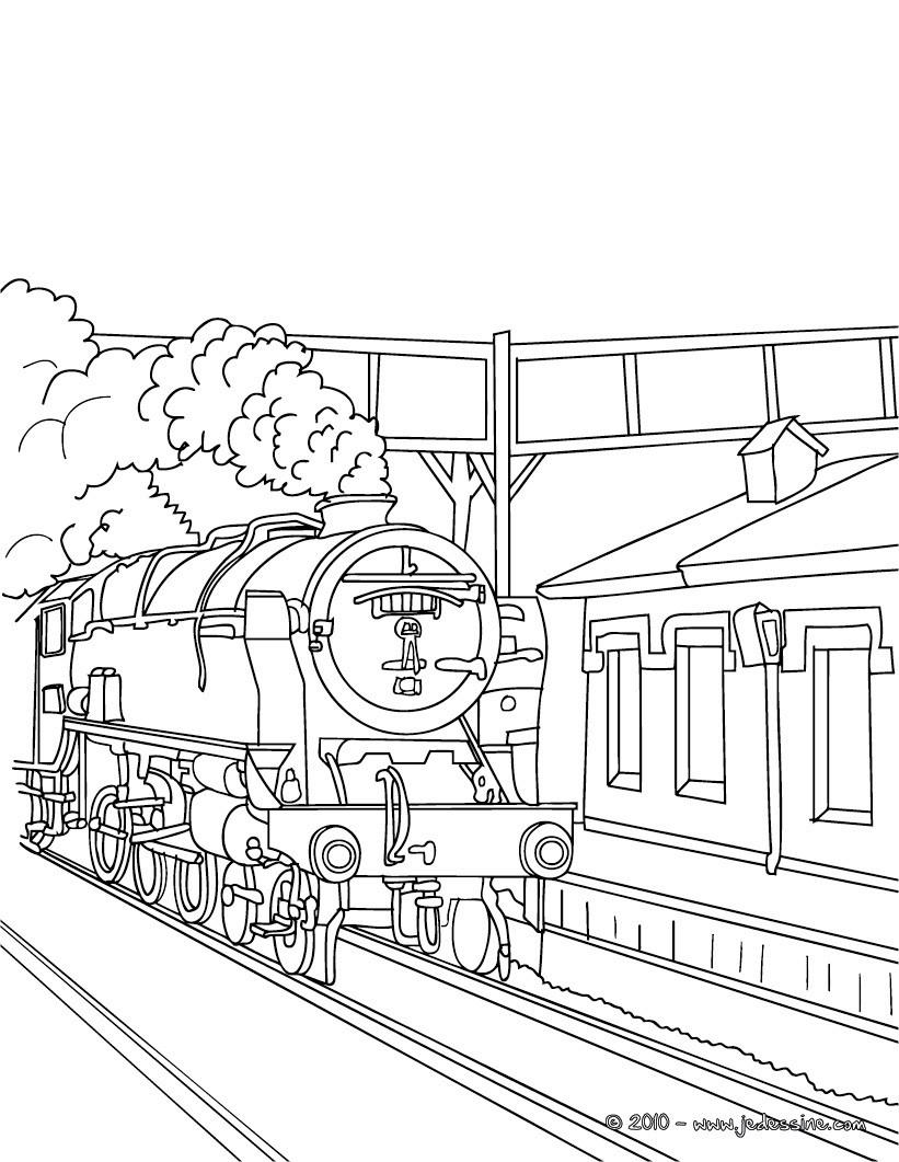 train à vapeur dessin