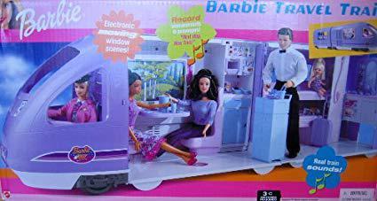 train barbie