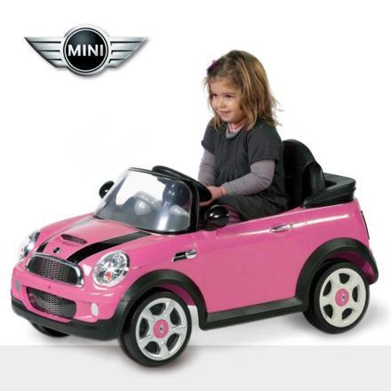 voiture electrique mini cooper rose